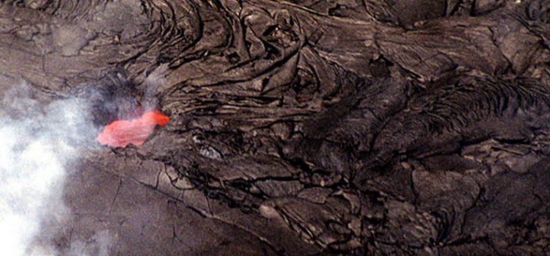 Гавайи, Большой Остров: полет на вертолете к текущей лаве