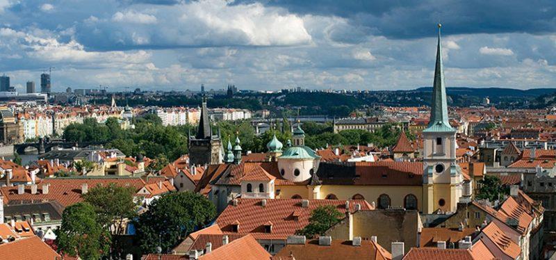Крыши Праги. Чехия