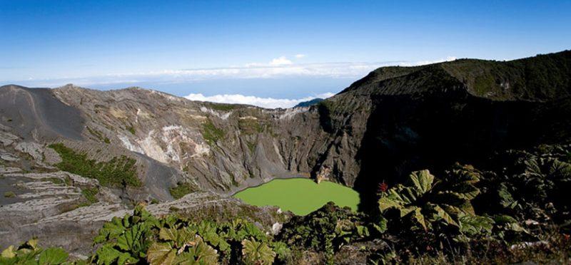 Фотографии вулкана Иразу и долины Orosi, Коста-Рика