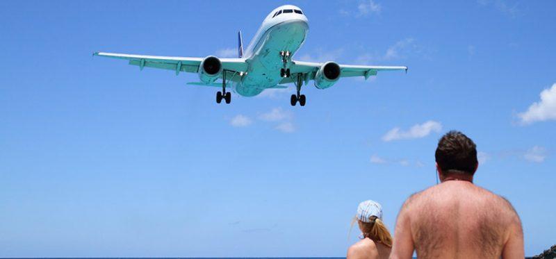 Сен-Мартен: пляж под крылом самолета. Фоторепортаж