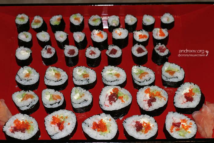 Суши приготовление в домашних