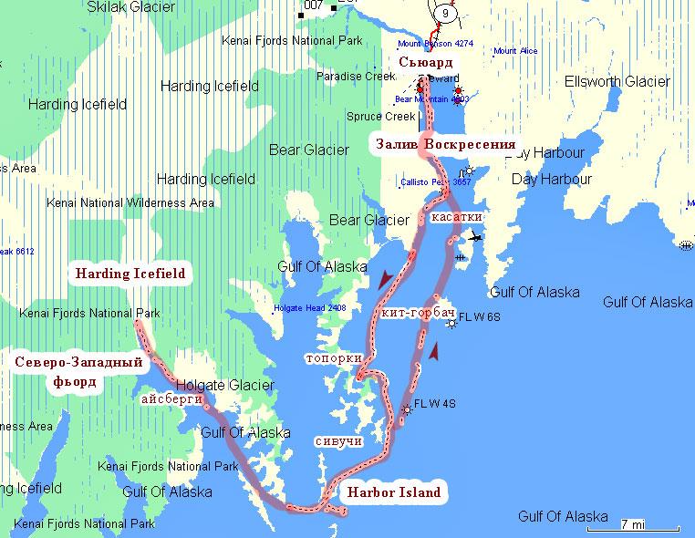 GPS-карта круиза