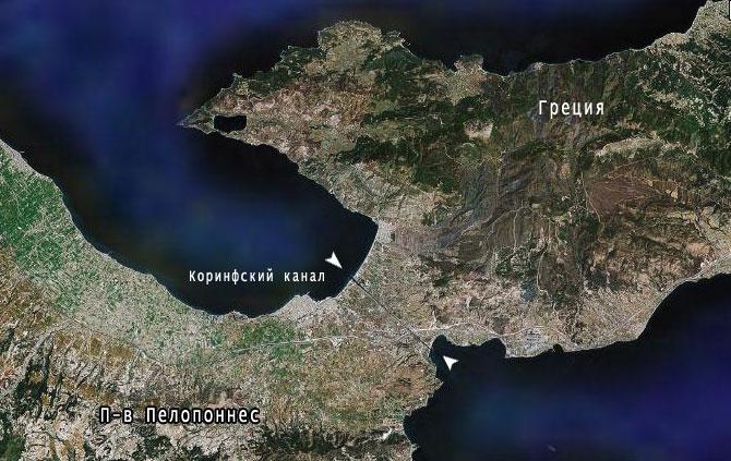 Карта п-ва Пелопоннес