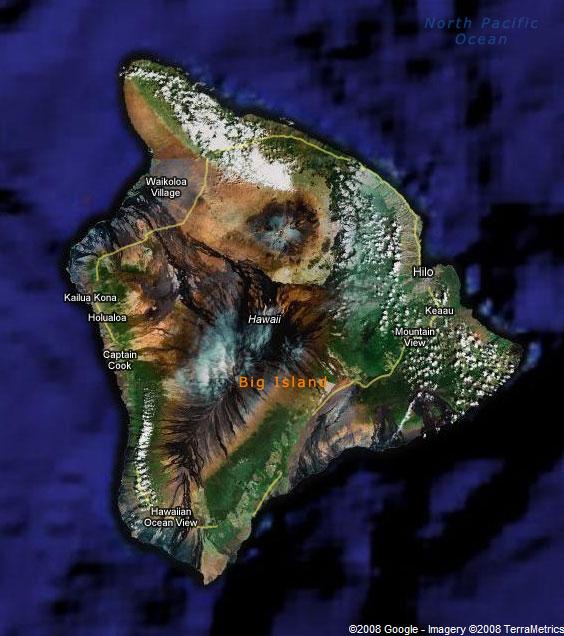 Большой Остров, Гавайи