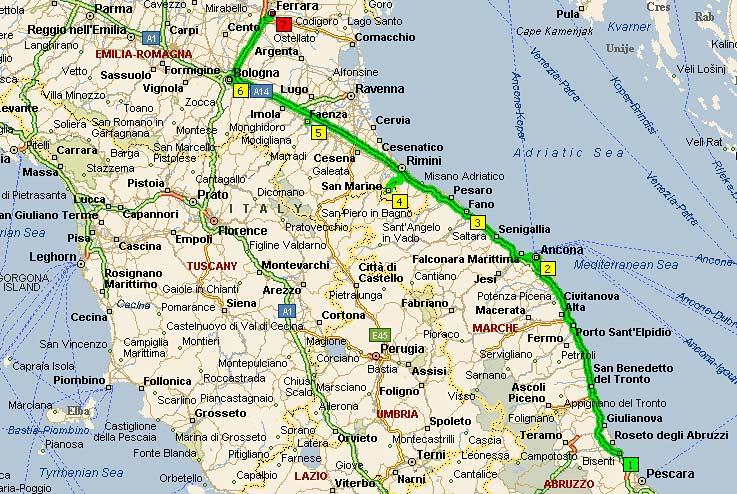 Ле Марке-Emilia Romagna, 430 км