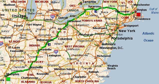 Мемфис, Теннеси - Ниагарский водопад - Бостон, Массачусетс
