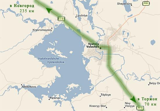 Трасса Е105: отрезок Вышний Волочек - Торжок