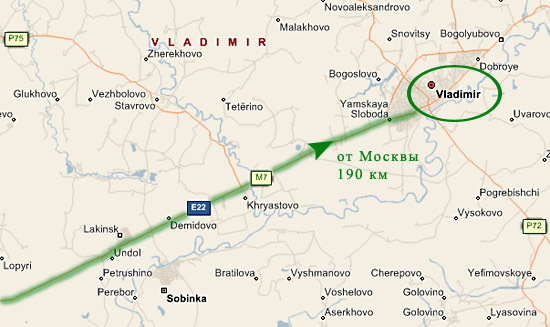 Трасса М7: отрезок Москва - Владимир